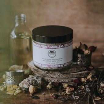 Wild Rose & Geranium Relaxing Bath Salts